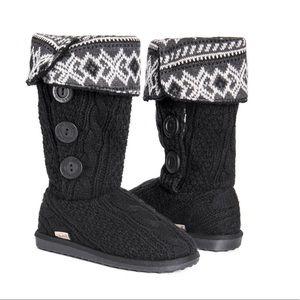 Muk Luks Women's Sweater Knit Bootie Slipper Boot